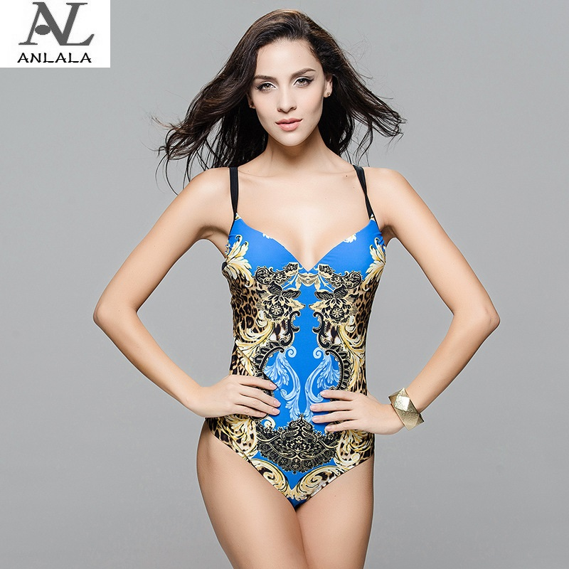 ANLALA Europe and the United States Ms Leopard  Triangle one-piece swimsuit anlala europe and the united states ms leopard triangle one piece swimsuit