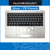 Silver Laptop Top Case FR French Keyboard for MacBook Pro Retina 13 A1708 Topcase Palmrest Replacement 2016 2017