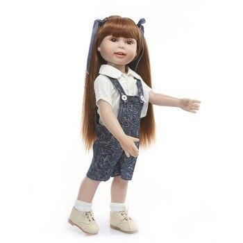 45cm Real Life Silicone Reborn Dolls American Princess Baby Toys for Kid Juguetes Full vinyl body bebes reborn menina