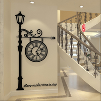 Newest 3D Acrylic Wall Clock Wall Stickers Cartoon Clock Stickers for living room restaurant modern art personalized wall clock