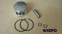 Top Quality! Piston Kit(Piston/Rings/Pin/Circlip)for 45CC Universal Gasoline/Petrol 2 Stroke Small Chainsaw/Wood Spliter