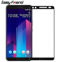 For HTC U12 U12 Plus Lite U12Plus U12+ Screen Protector Color White Black Protective Film Guard Full Cover Tempered Glass protective matte frosted pet screen protector film guard for htc t328d transparent