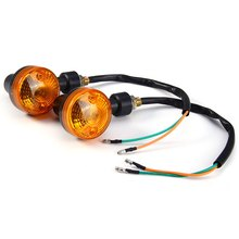 Universal Mini Motorcycle Turn Signal Light Indicator Flasher Blinker Lamp Amber Light Energy Saving Long Lifespan Cat Eye Style