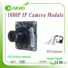 2MP Full HD 1080P High Definition CCTV IP Network Camera Board Module, Upgrade your IPCam Video System 2.8mm/3.6mm/6mm optional