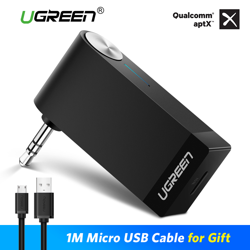 Ugreen Ricevitore Bluetooth 4.2 Ricevitore Audio Bluetooth Senza Fili 3.5mm Car Aux Adattatore Bluetooth per Speaker Cuffia a Mani Libere