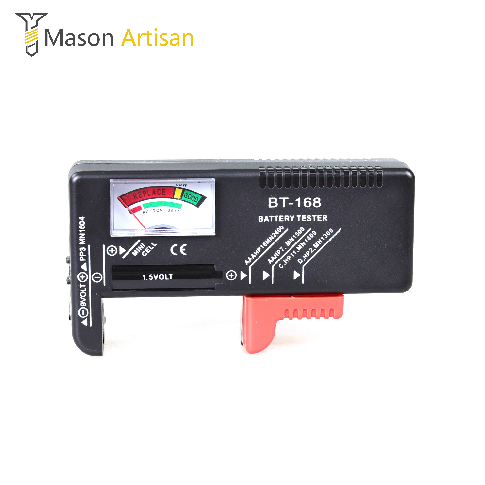 Bt 168 Battery Tester For 9v 1 5v Button Cell Aaa Aa C D