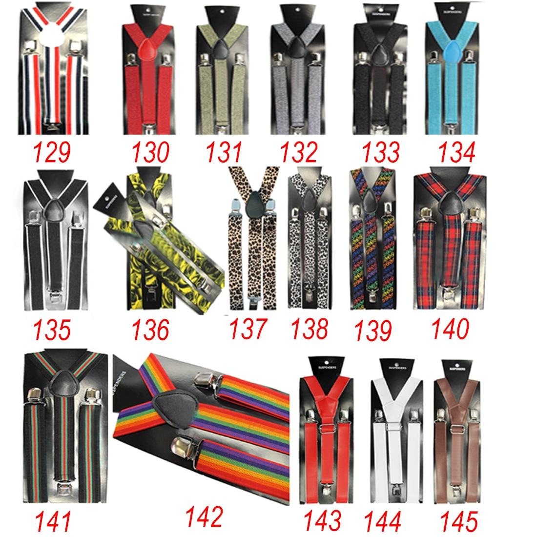 Mens Womens Unisex Clip-on Suspenders Elastic Y-Shape Adjustable 2.5cm*100cm Strap Dress Accessories Strap Apparel Hot 2018 New