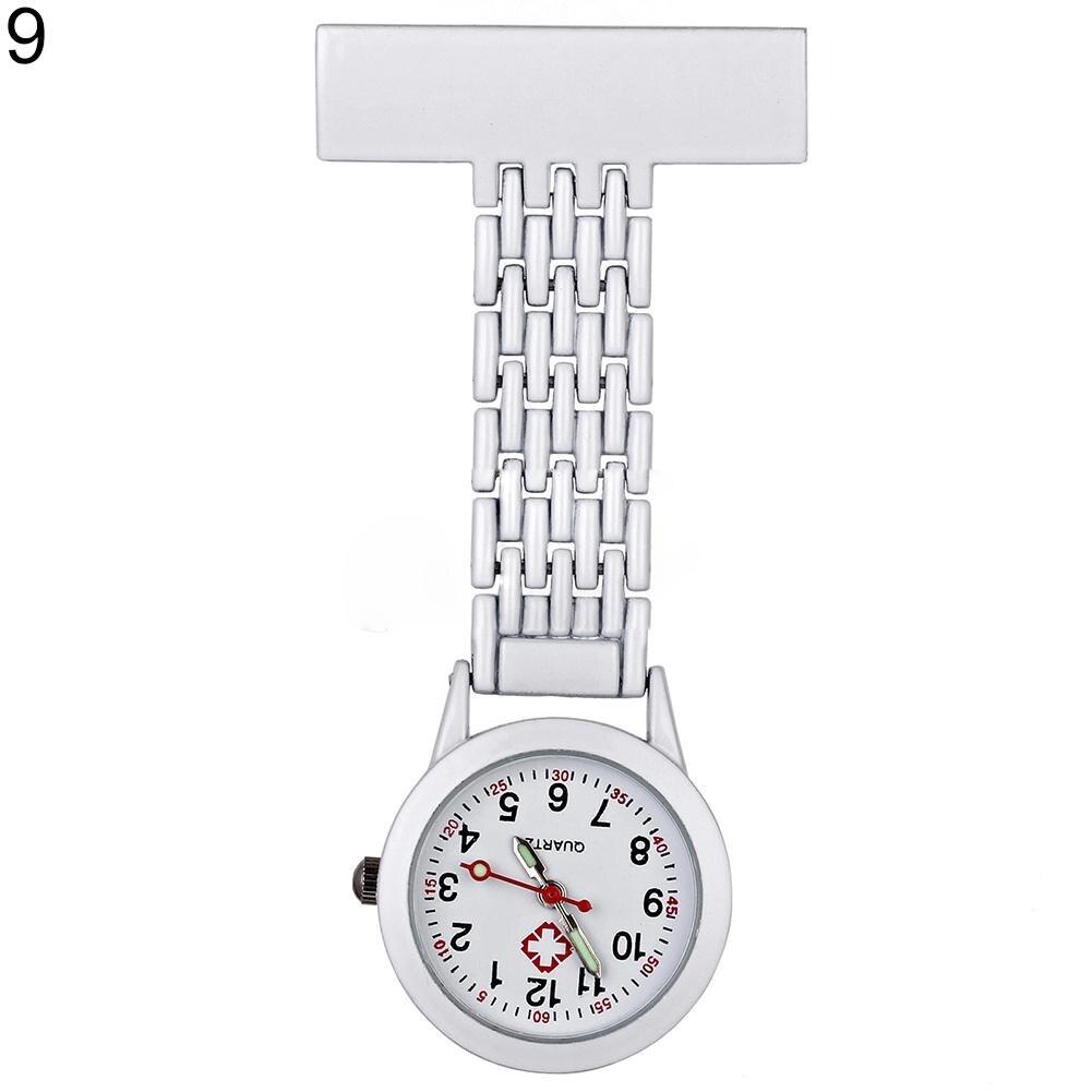 Women Girl Stylish Metal Clip-on Pocket Quartz Analog Brooch Medical Nurse Fob Watch Gift nurse watch pocket watch