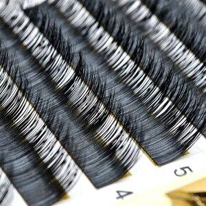 Image 2 - 100% Gerçek Kürk Vizon Bireysel Kirpik Uzatma 1 adet/grup Mix 6 Uzunluk 8mm 13mm B C kıvırmak ücretsiz Kargo