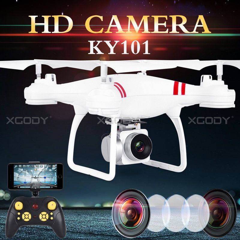 RC Drone KY101 WiFi FPV Helicopter HD Camera Quadcopter 2.4G