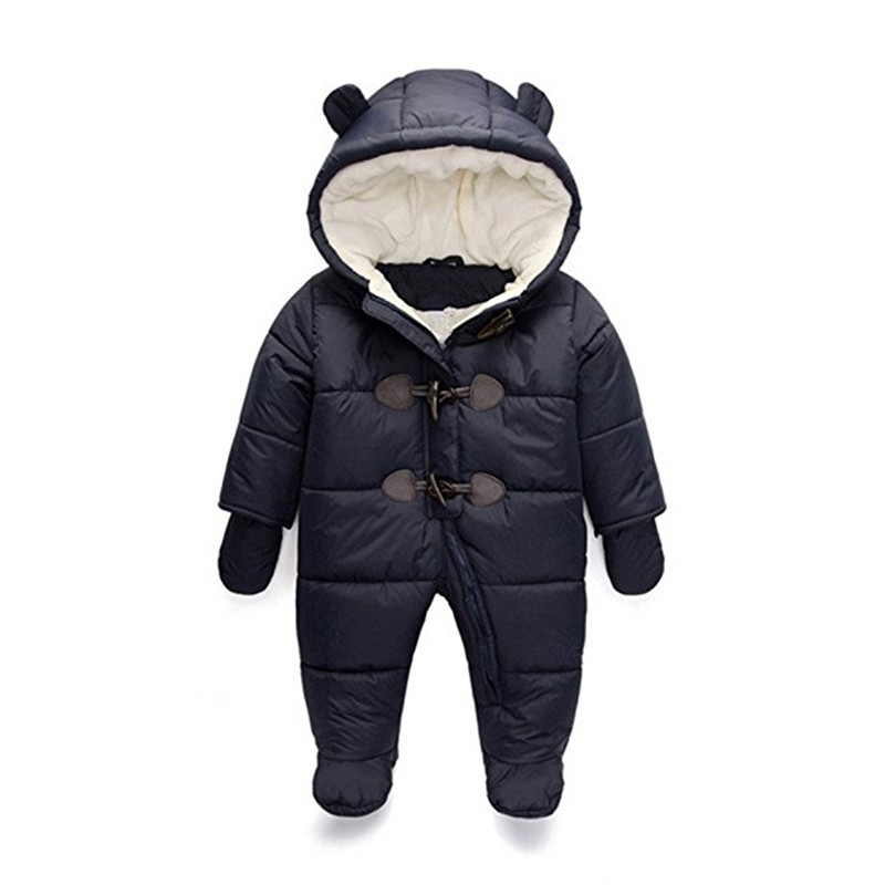 New Winter Rompers Baby Clothes Newborn Snow Wear Romper Children Boy Girl Jumpsuit Kids Cotton Overalls Infant Snowsuit Fleece цена