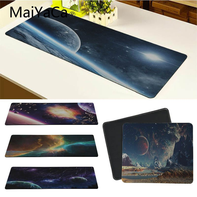 MaiYaCa Boy Gift Pad The Space Wallpaper Large Mouse pad PC Computer mat Good quality Locking Edge large Game Mouse Pad image