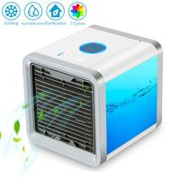 4 in 1 Mini USB Portable Air Conditioner Arctic Air Cooler Humidifier Purifier 7 Colors LED Light Desktop Air Cooling Fan