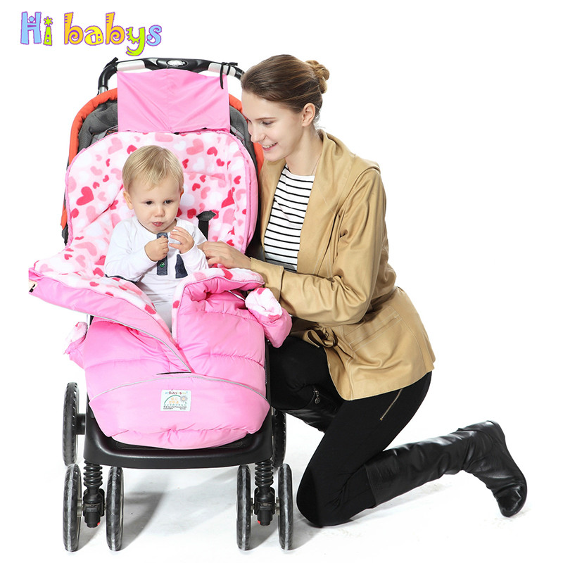 Warmer Envelope for Newborns Baby Stroller Sleeping Bag Winter Thick Baby Cocoon for Stroller Infant Windproof Sleepsacks все цены