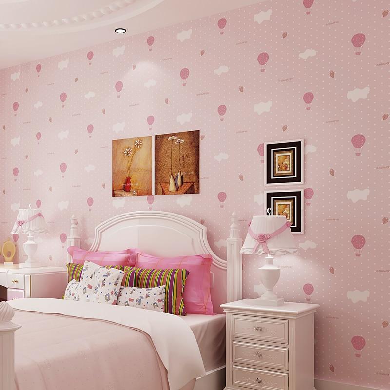 Non woven wallpaper childrens room bedroom 3D strawberry