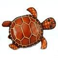 Monederos de cuero genuino Cartera Del Mitón Del bolso lindo de la tortuga de los animales en forma de bolsas de dibujos animados carpeta cero artesanías tortuga de juguete de regalo