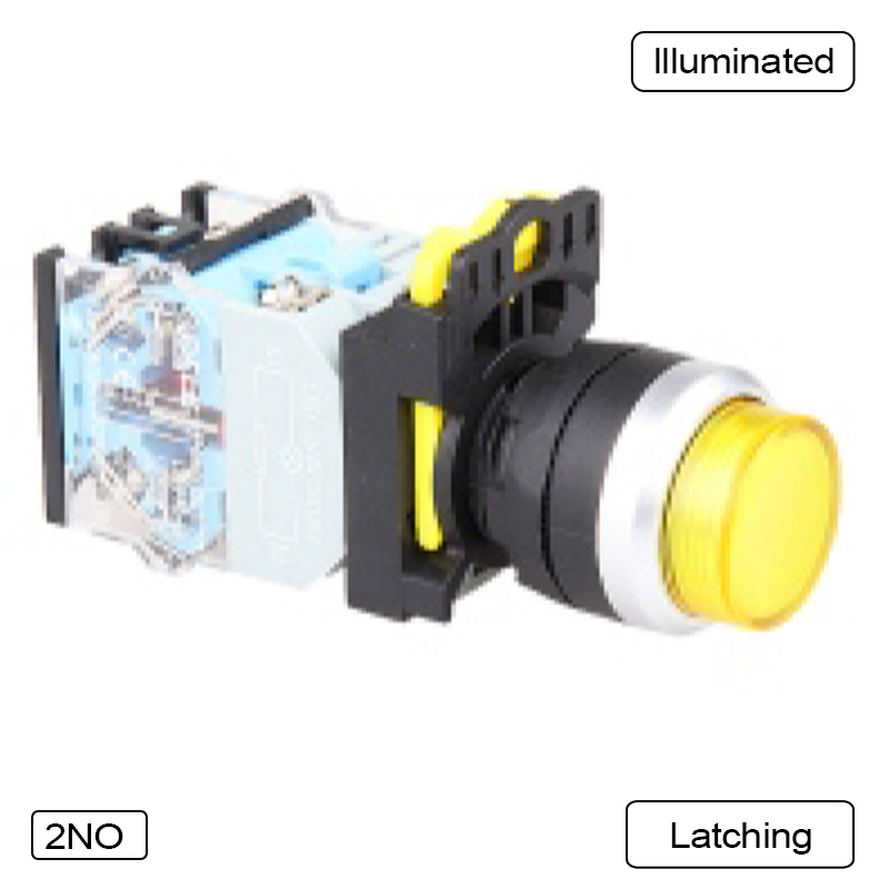 5 PCS Push button switch Extended button LED Momentary Waterproof IP65  1NO 1NC 1N0+1NC 2NO 2NC  LA115-B5-11HD-Y31 5 pin dpst 2 phase 2 button momentary waterproof electromagnetic switch 230vac
