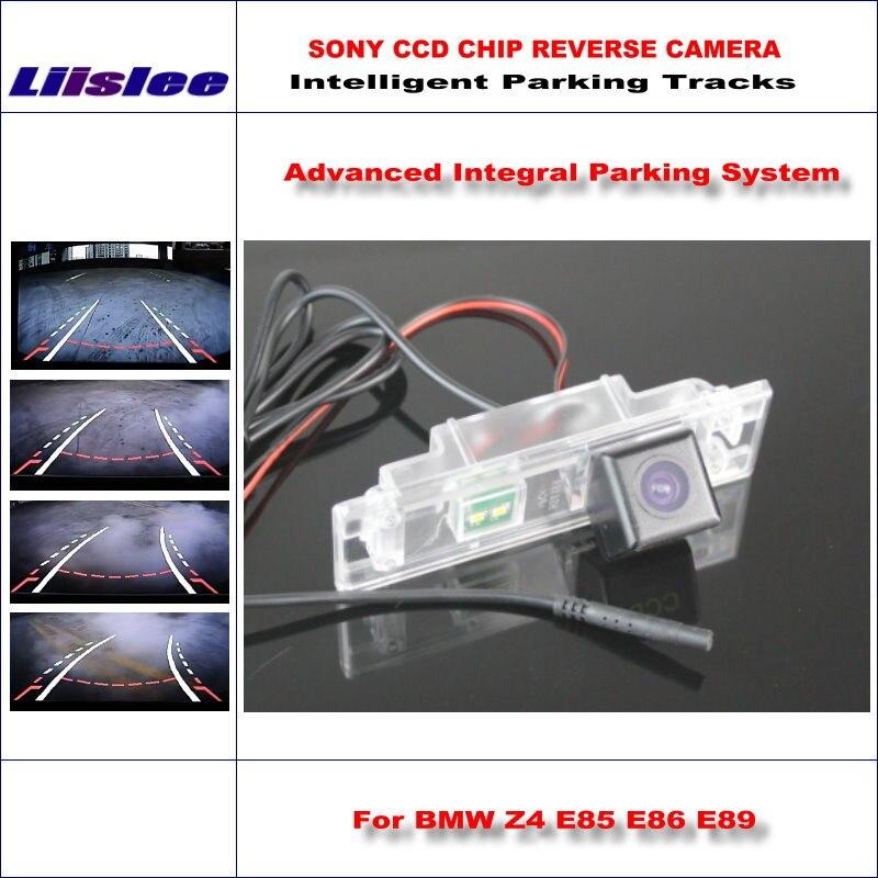 Estacionamento do carro câmera de visão traseira para bmw z4 e85 e86 e89 reversa back up câmera 580 linhas tv orientação dinâmica tragectory auto cam