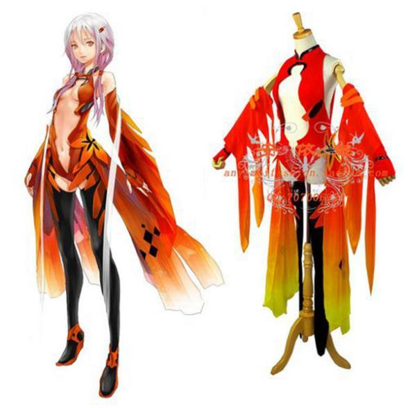 free shipping guilty crown inori yuzuriha sexy dress