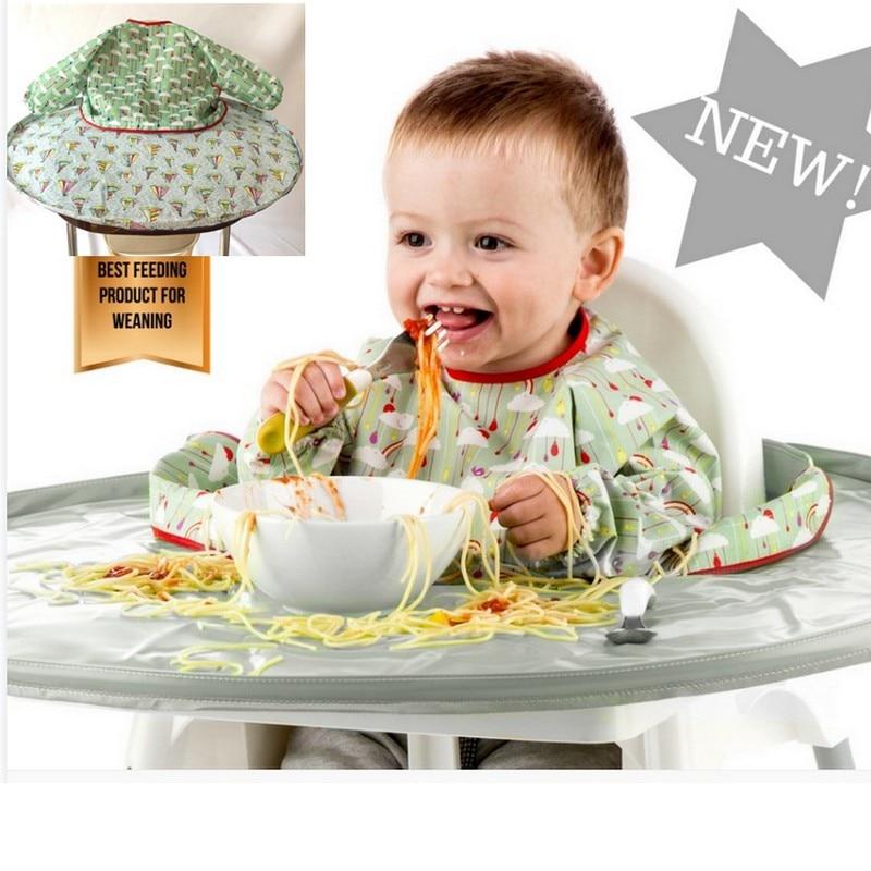Baby Highchair Bib Toddler Feeding High Chair Anti Dirty Mat
