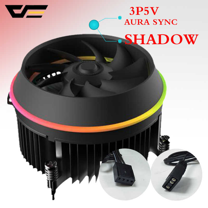 Darkflash shadow TOP-FLOW CPU Koeler 3P-5vAURA SYNC TDP 280 W PWM 4pin Dubbele Ring LED RGB Fan Radiator koeler voor intel LGA 115x