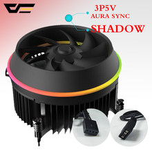 Darkflash shadow TOP-FLOW CPU Koeler 3P-5vAURA SYNC TDP 280 W PWM 4pin Dubbele Ring LED RGB Fan Radiator koeler voor intel LGA 115x(China)