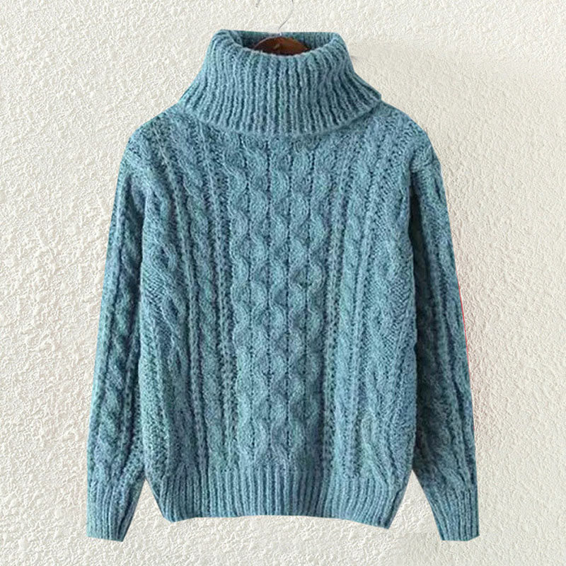Winter Wool Women Knitted Sweaters And Pullovers Fashion 2016 Autumn  Oversized Turtleneck Sweater Cute Female Knitwear S1775-in Pullovers from  Women s ... 11dd38f0c