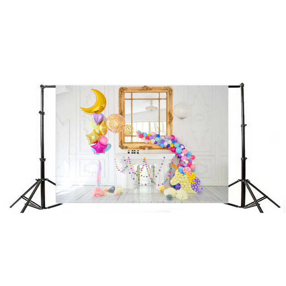 Mayitr 1pc 7x5ft Kid Baby Balloon Backdrop Vinyl Unicorn Photography Background for Photo Studio Props sensfun where the wild things are dessert table backdrops custom photo studio backdrop background vinyl 7x5ft