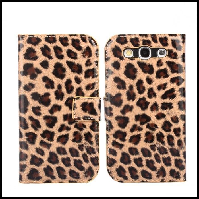S3 Бумажник Дело Leopard Кожа смартфон аксессуар для Samsung Galaxy S 3 i9300 Чехлы-перевёртыши крышка Etui capinhas Coque hoesjes