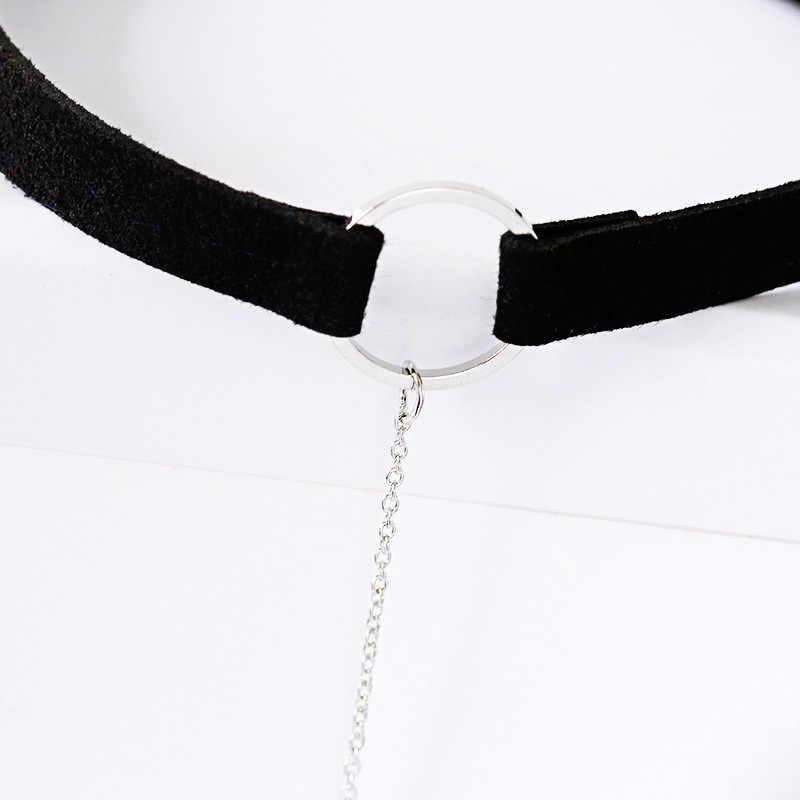 2018 チョーカータトゥー幾何ネックレス花ゴシックパンクベルベットロングペンダント女性の襟の宝石チョーカーネックレス