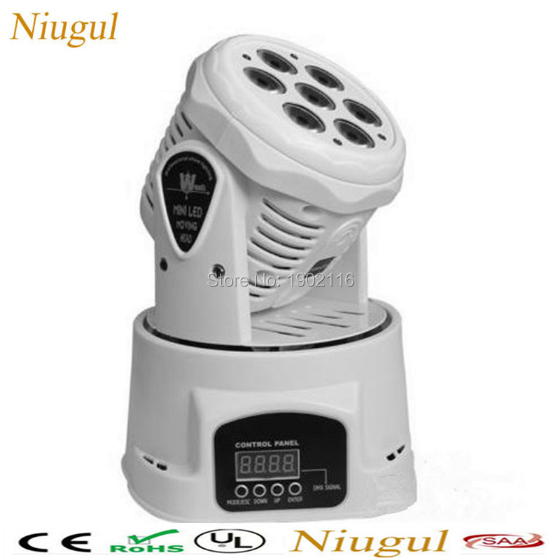 White color 7x12W led wash moving head light/powerful RGBW mini moving effect light ktv DJ disco lights Free Shipping niugul dmx stage light mini 10w led spot moving head light led patterns lamp dj disco lighting 10w led gobo lights chandelier