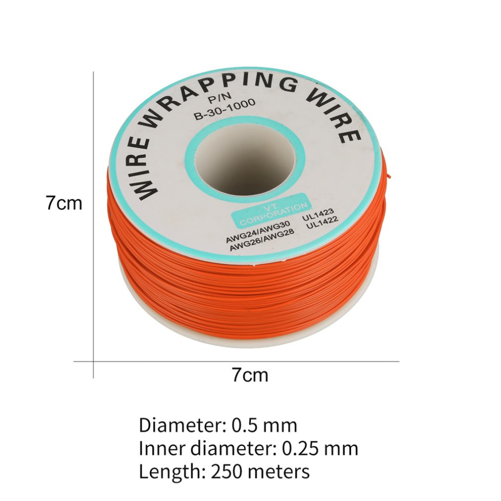 brand new 250m 30awg single core copper wire ok line circuit flight