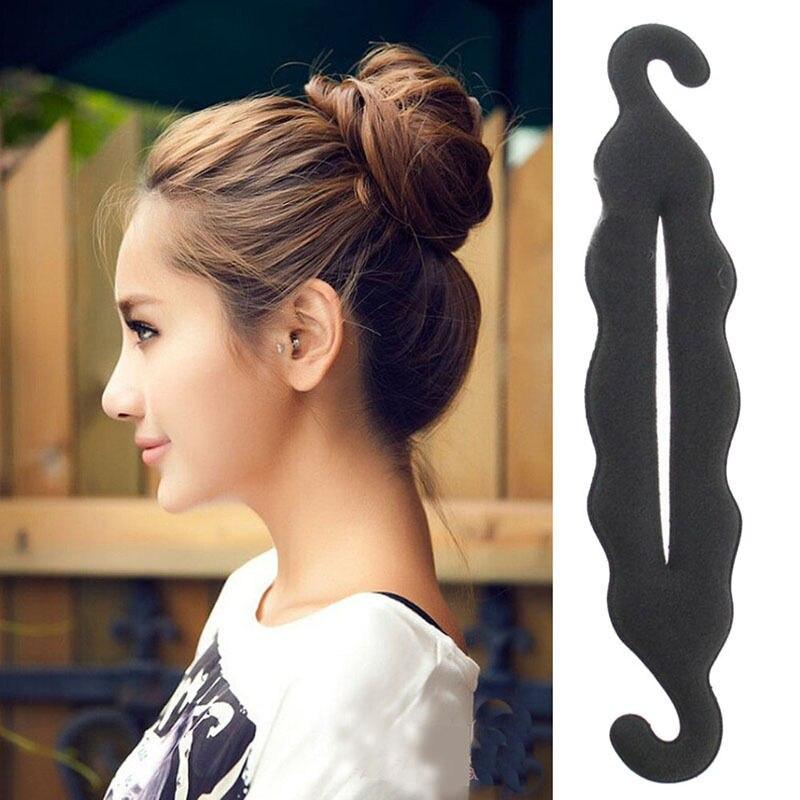 1PC 24cm Hair Ornaments Hair Accessories For Women Foam Sponge Hairtwist Donut Quick Messy Bun Updo Adornos Para El Pelo