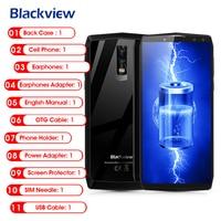 Blackview P10000 Pro смартфон 4G 6,0 дюймов Android 7,1 MTK6763 Восьмиядерный 4G B Оперативная память 6 4G B Встроенная память Quad камер Стекло задняя 11000 мАч