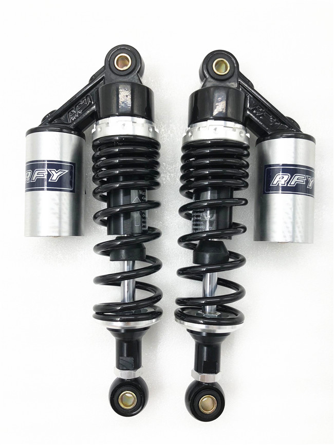 """RFY 1pair 11"""" 280mm motorcycle air shock absorber rear suspension for Yamaha Motor Scooter ATV Quad Black & silver-in Falling Protection from Automobiles & Motorcycles    1"""