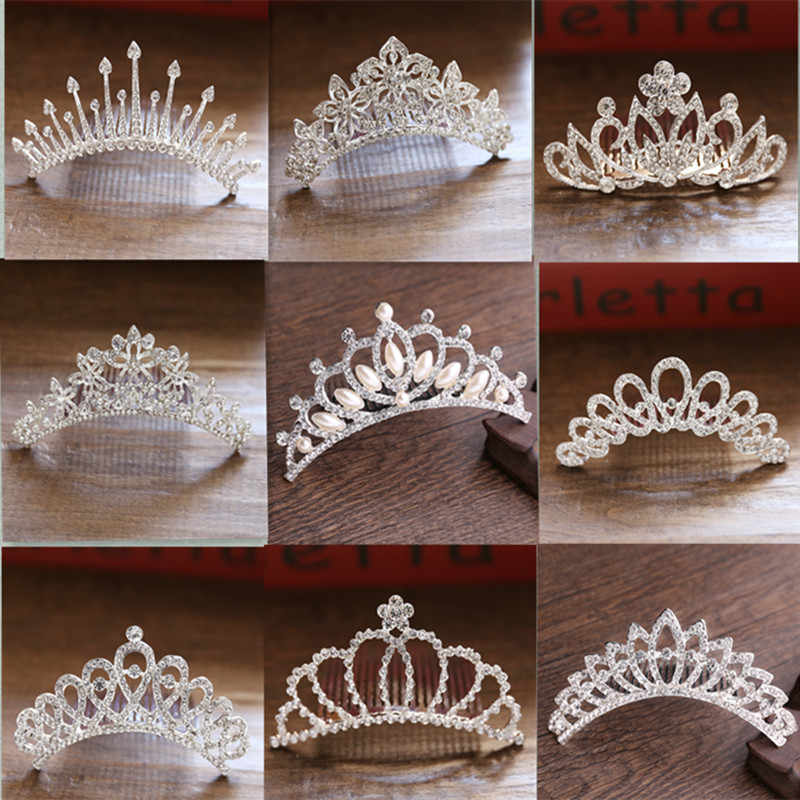 ... Baby Girls Rhinestone Crown Hair Comb Sweet Crystal Tiara Crown  Headbands Toddler Princess Hair Accessories baptism ... a431aabdf56d
