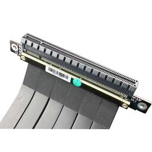 Image 5 - PCI E X16 ~ 16X 3.0 남성 여성 라이저 확장 케이블 그래픽 카드 컴퓨터 PC Chasis PCI Express Extender 리본 128G/Bps