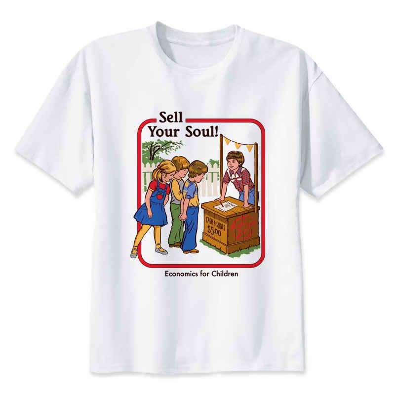 Satana T degli uomini della camicia demone morte spaventoso male divertente alien grim reaper T-Shirt supernatura maschio/donne tshirt