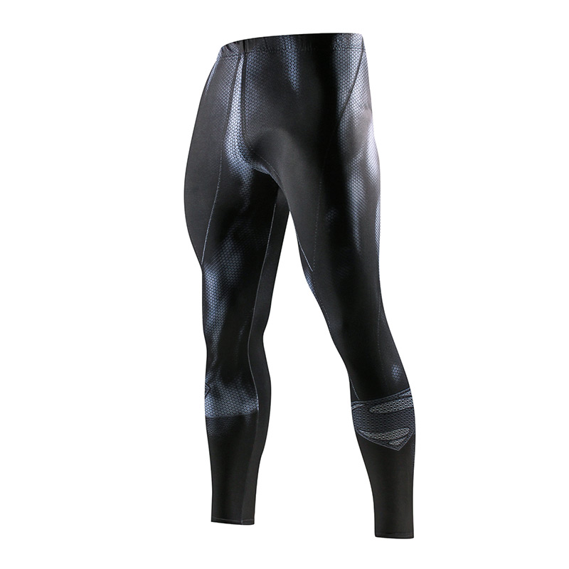Super Hero Running Tights Men Fashion Casual Pants Fitness Sport Leggings Men Gym Jogging Trousers Sportswear Compression Pants