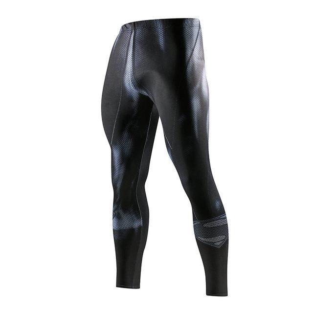 Super hero Running Tights Men Fashion casual Pants Fitness Sport Leggings Men Gym Jogging Trousers Sportswear Compression Pants