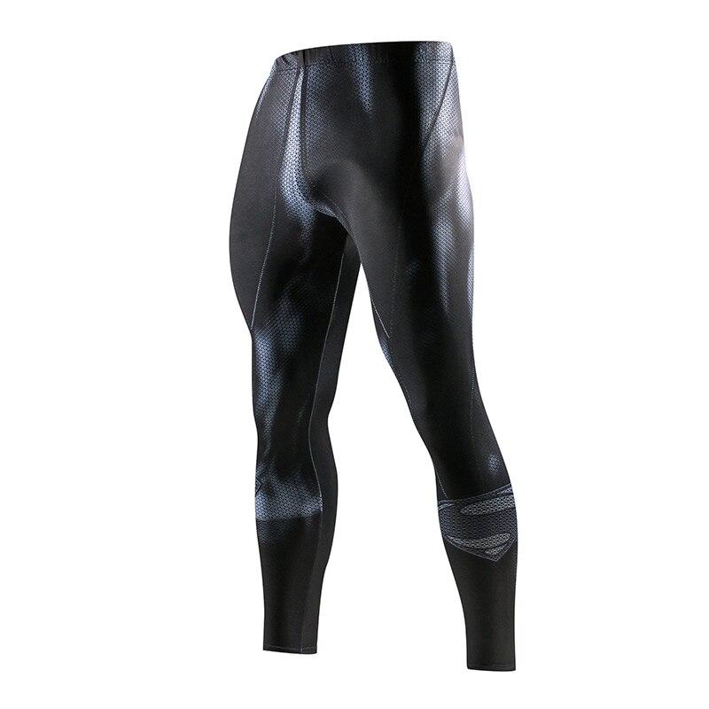 Super hero corriendo medias de moda de los hombres pantalones casuales pantalones de Fitness deporte Leggings gimnasio correr pantalones ropa deportiva de compresión de los pantalones