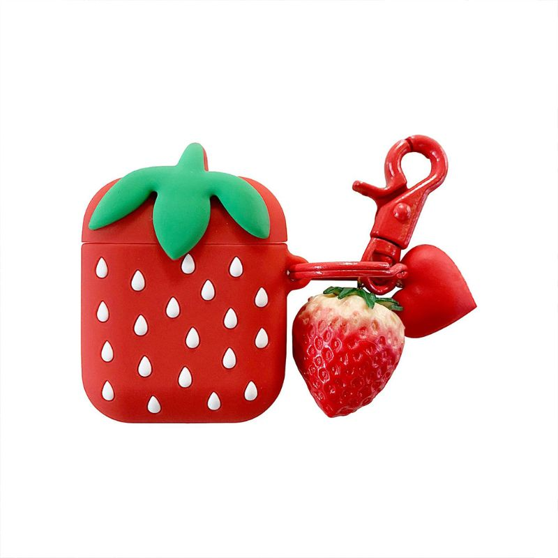 Fashion Cute Cartoon Strawberry Soft Silicone Protective Cover Shockproof Case Skin For Airpods 1/2 Charging Box