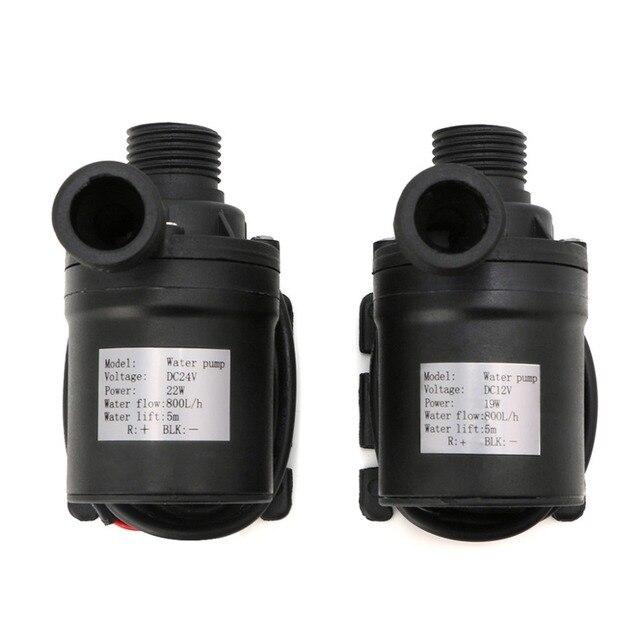 800L/H 5 m DC 12 V 24 V Solar Borstelloze Motor Watercirculatie Waterpomp Submersibles Water Pompen