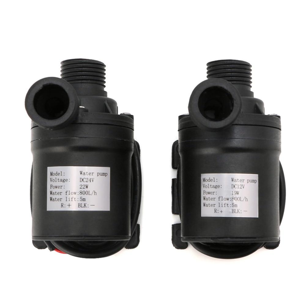 800l/h 5m dc 12 v 24 v bomba de água de circulação de água sem escova solar submersíveis bombas de água