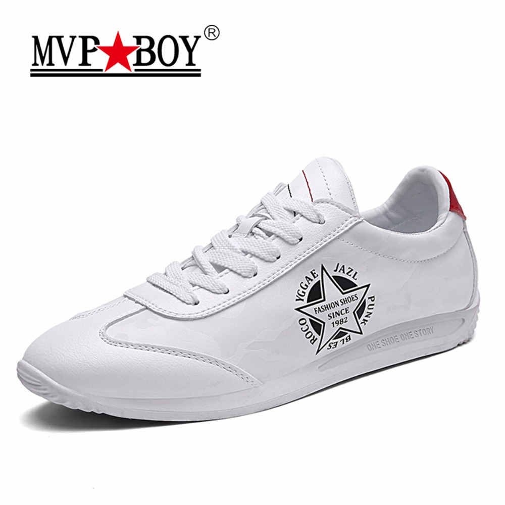 MVP BOY Brand Men Leather Shoes 2017 New Super Soft Classic White Shoes Men Autumn Breathable Comfortable Flat Male Casual Shoes bakkotie 2017 new autumn baby boy casual shoes khaki genuine leather black kid girl brand flat shoes soft sole breathable child