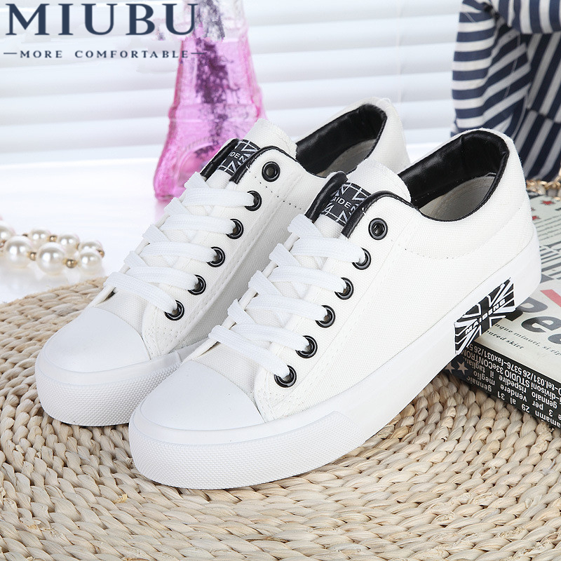 MIUBU Women Canvas Women Platforms Casual Shoes Comfortable Sweet Solid White Black Blue Canvas Shoes Free Shipping free shipping candy color women garden shoes breathable women beach shoes hsa21