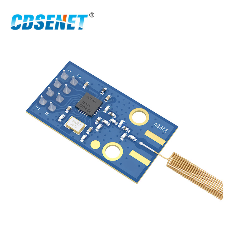 433MHz CC1101 Wireless Rf Module E07-M1101D-TH 10mW 500m SPI SMD Rf Transmitter And Receiver 433 MHz With Spring Antenna