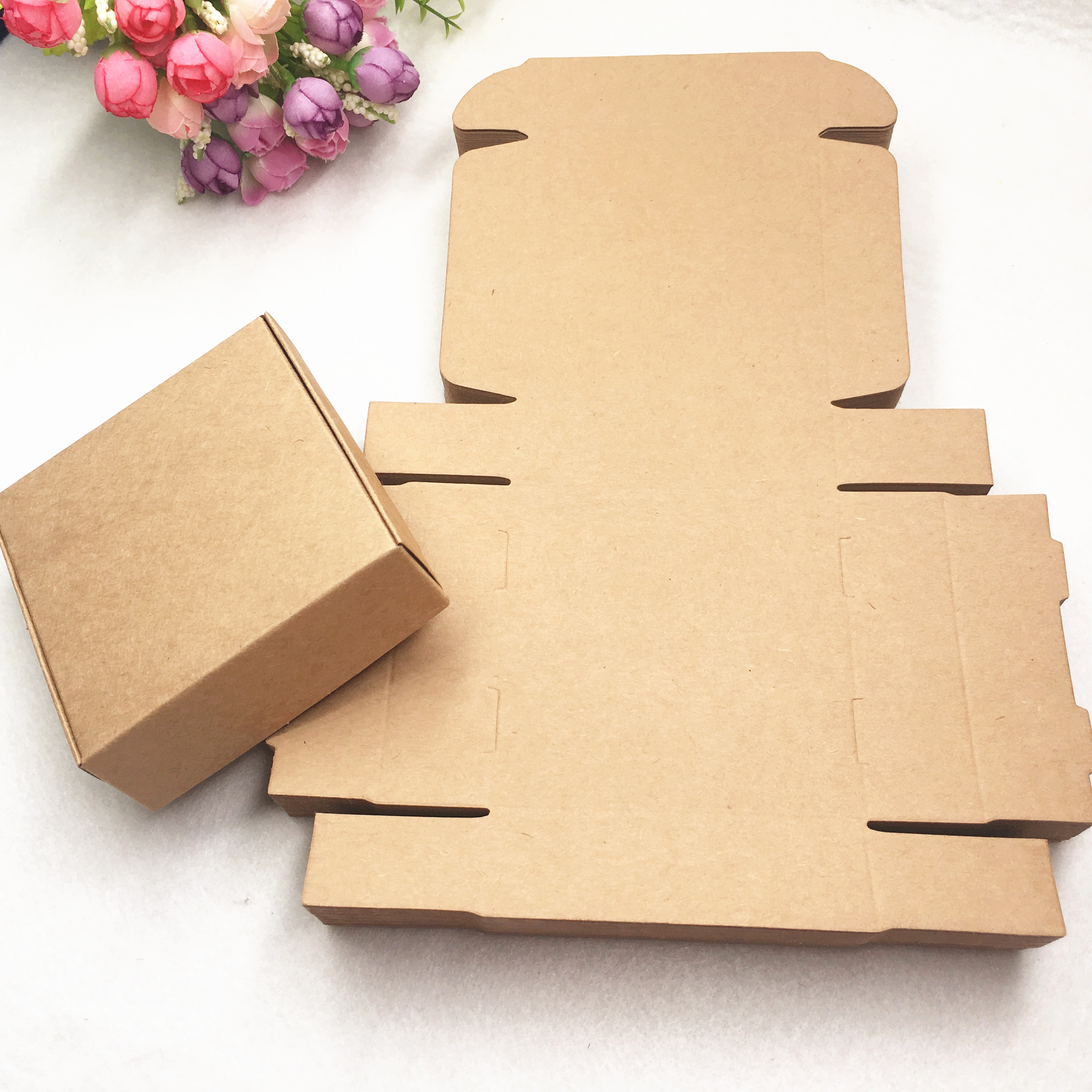 20pcs/lot 9 Size Kraft Aircraft Gift Packaging Box 3 Color Choose Jewelry Accessories Storage Box For Handmade Soap Craft