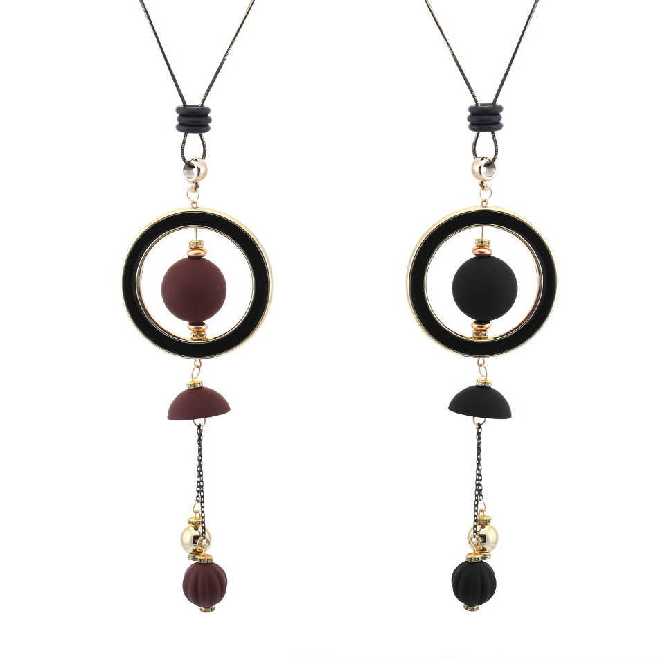 Match-Right Women Necklace Long Necklaces & Pendants Wood Beads Sweater Necklace For Women Jewelry SP014