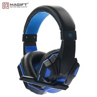 Magift Gaming Headphone Sound Effect With LED Light Over Ear Glowing 3 5MM Stereo USB Headset